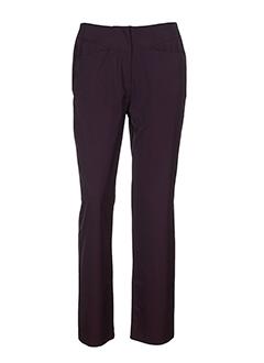 de la vega pantalons femme de couleur violet