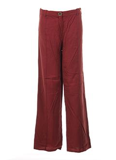 be the queen pantalons femme de couleur rouge
