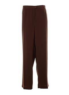 c.s creations pantalons femme de couleur marron