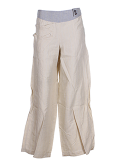 liliane h pantalons femme de couleur beige