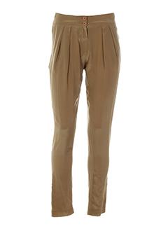 antik batik pantalons femme de couleur marron