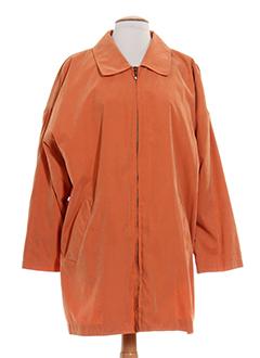 lecomte manteaux femme de couleur orange