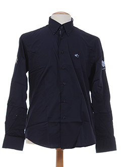 les ecuries de charlene chemises homme de couleur bleu