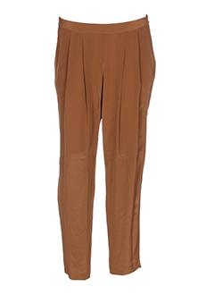 masscob pantalons femme de couleur marron