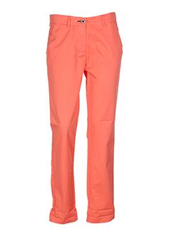 shine pantalons et decontractes femme de couleur orange