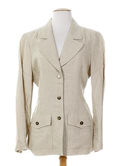 francois favel vestes femme de couleur beige