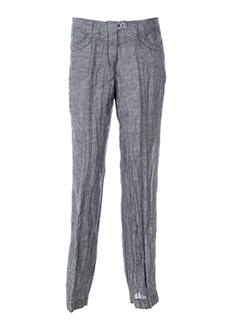 animale pantalons femme de couleur bleu