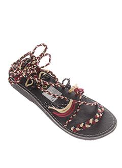 la et marine sandales et nu et pieds femme de couleur rouge