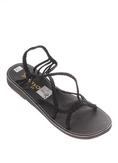 la et marine sandales et nu et pieds femme de couleur noir