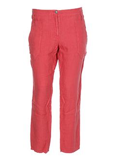 ikks pantalons et decontractes femme de couleur rouge