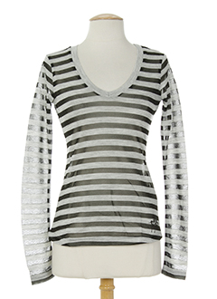 fornarina chemises femme de couleur gris
