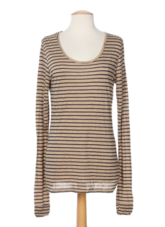 0039 et italy t et shirts et longs femme de couleur beige (photo)