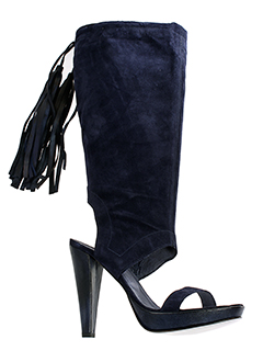 valentino et moda bottes femme de couleur bleu