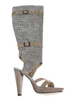 valentino et moda bottes femme de couleur gris