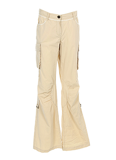 jean bourget pantalons fille de couleur beige