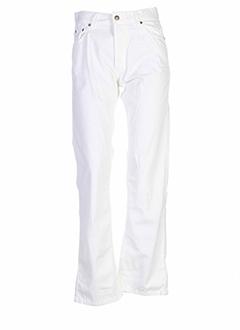 benetton pantalons femme de couleur blanc