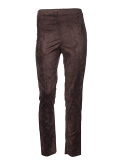 lauren vidal pantalons femme de couleur marron