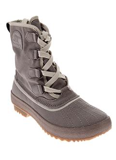 sorel chaussures femme de couleur gris