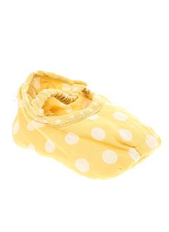 nice et things chaussons fille de couleur jaune