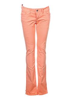 tiffosi pantalons femme de couleur orange