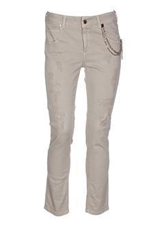 kocca pantalons femme de couleur beige