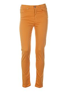 votre nom pantalons femme de couleur orange