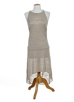 lauren vidal robes femme de couleur beige