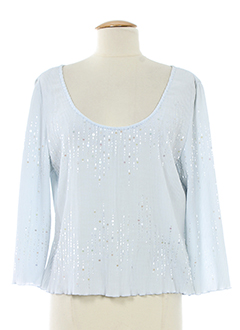 frank usher chemises femme de couleur bleu