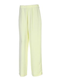 frank usher pantalons femme de couleur jaune