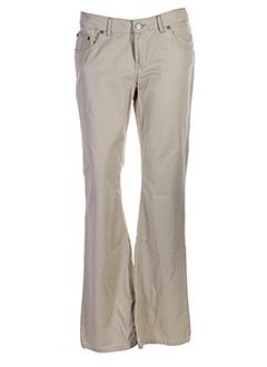 school rag pantalons femme de couleur beige