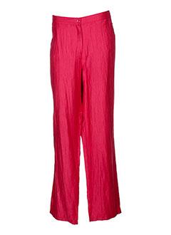 my way pantalons femme de couleur rouge