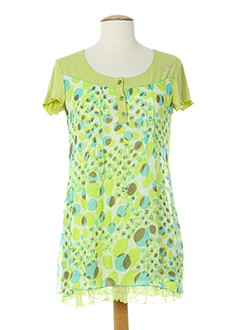 jean gabriel tuniques femme de couleur vert