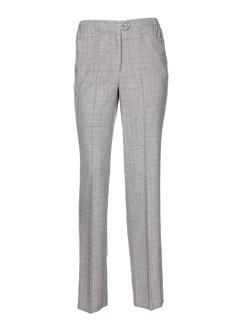 lorenzo ferreri pantalons femme de couleur gris