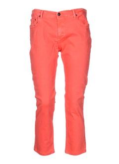 jon kafe pantalons femme de couleur orange