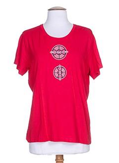 jean delfin t-shirts femme de couleur rouge