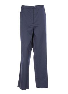 baronia pantalons femme de couleur bleu
