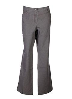 bianca pantalons femme de couleur gris