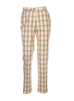 francois favel pantalons femme de couleur beige