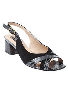 alberto et fermani sandales et nu et pieds femme de couleur noir