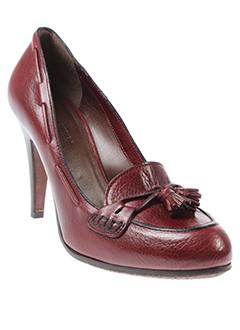 lena et milos escarpins femme de couleur rouge
