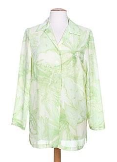 janine pauporté chemises femme de couleur vert