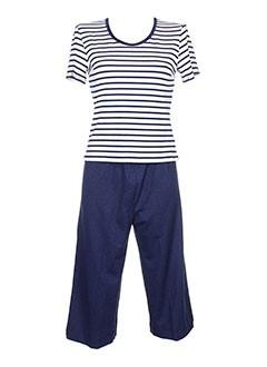 canat pyjamas femme de couleur bleu