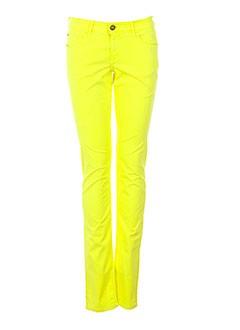 teddy smith pantalons fille de couleur jaune