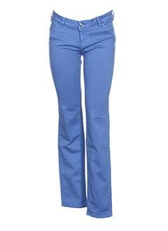 kocca pantalons femme de couleur bleu
