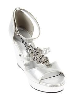 beverly et feldman sandales et nu et pieds femme de couleur gris