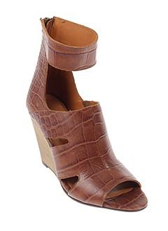 dkode sandales et nu et pieds femme de couleur marron