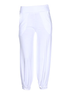mia et soana pantalons et decontractes femme de couleur blanc