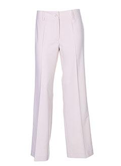 federica pantalons femme de couleur beige