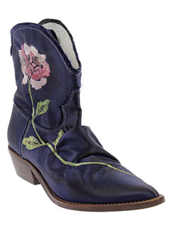 muratti bottines femme de couleur bleu