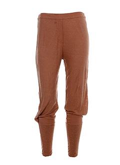 cannisse pantalons femme de couleur orange